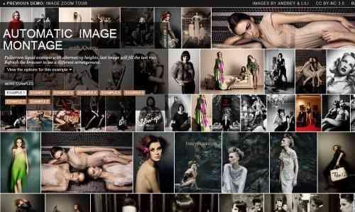 jquery缩略响应式自动图片相册布局效果 有多种样式效果代码