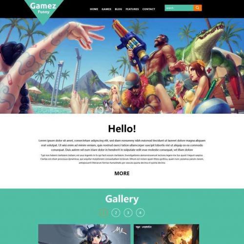 简单的游戏图片展示网站html模板源码