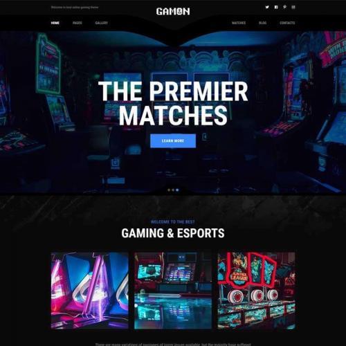 黑色的电子竞技游戏社区官网HTML网站模板