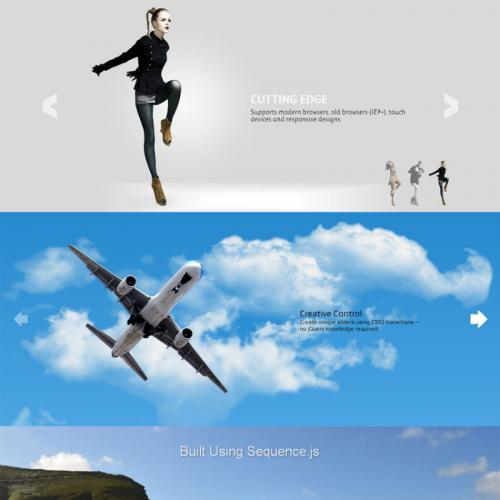 jquery sequence slide6款时尚的图片滑动幻灯片切换效果代码