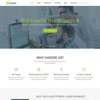 绿色响应式通用的平面广告设计公司网站ui框架模板