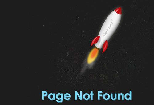jquery制作单页面动画太空火箭喷射升空404页面效果代码