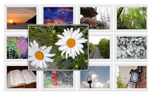 div+css布局图像画廊A标签属性鼠标滑过显示大图片特效代码