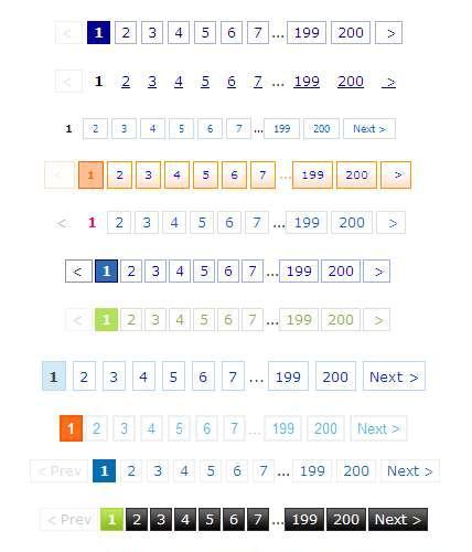 非常实用漂亮的div+css样式表制作24款css分页页码样式特效代码