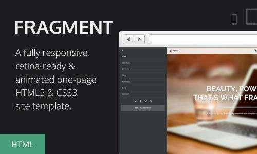 HTML5 CSS3工作室超炫单页模板 Fragment视差滚动响应性模板代码