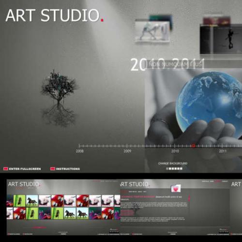 超酷flash全站设计公司网站模板代码