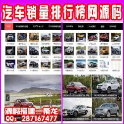 2020帝国CMS7.5仿《SUV排行榜网》汽车销量排行网汽车销量资讯网站整站源码新闻门户带采集同步生成手机站