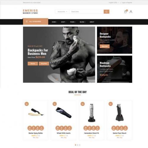 时尚理发店铺购物网站HTML模板特效代码