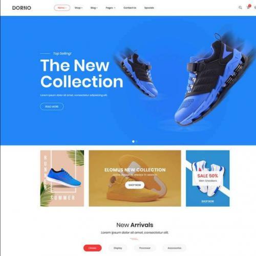 时尚运动鞋商城网站模板特效代码
