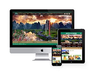 景区旅游旅行官方网站类织梦dedecms模板源码(带手机版)