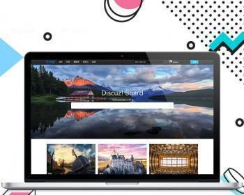 discuz模板黑色摄影图展带EXIF商业版摄影师图片作品展示源码