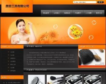适合美容器材公司使用的网站模板源码
