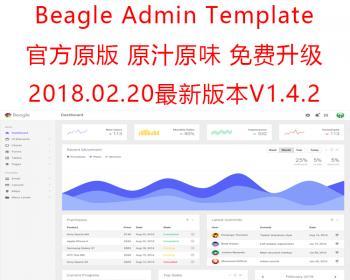 新版Beagle1.4.2 - Bootstrap 后端管理网页模板