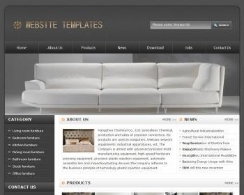 非常有轮廓感觉的家具企业网站模板源码