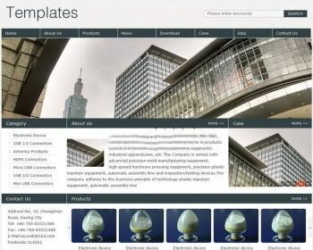 符合国外的电子外贸公司网站模板源码