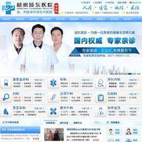 大气漂亮的某医院类型的网站源码 医院系统源码