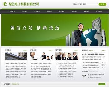绿色电子科技公司网站模板