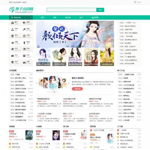 杰奇1.7独家清爽色调小说站PC模板 全自动关关采集+全站伪静态