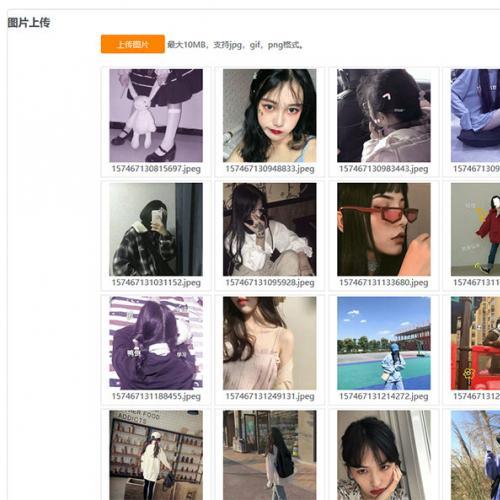 PHP京东图床外链上传+瀑布流图片展示网站源码