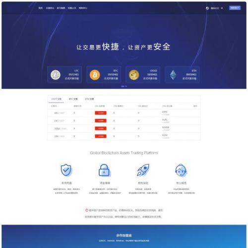 仿火币|区块链|虚拟数字货币交易所|BTC|OTC|币币交易|带充值区块链交易所
