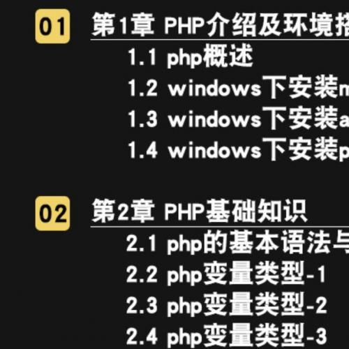 PHP编程0基础从入门到精通 2019实战开发在线视频课程