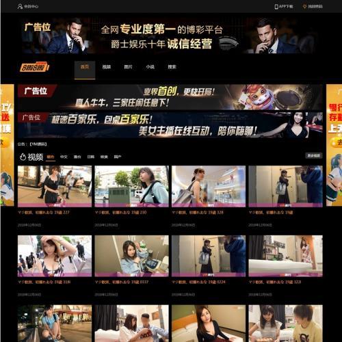 【引流专用】苹果cmsV10x自适应20个广告位视频图片小说源码
