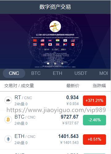 仿火币 区块链 虚拟数字货币交易所 BTC OTC 币币交易 带充值交易所