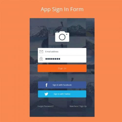 简洁的app软件登录页面模板html源码下载