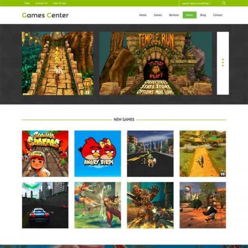 绿色的响应式app手机游戏网站模板HTML源码下载