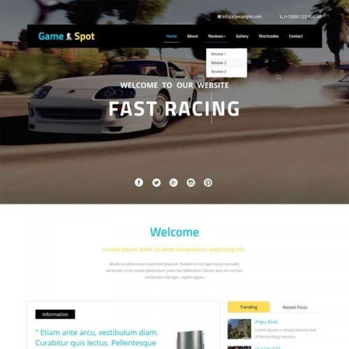 黑色的国外单机游戏公司网站静态模板HTML源码下载