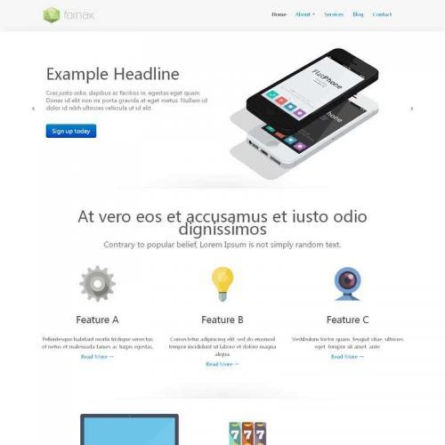 简单的手机app开发公司网站静态模板HTML源码下载