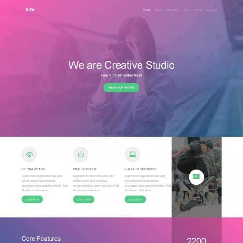 紫色大气的摄影app软件介绍html5动画模板代码