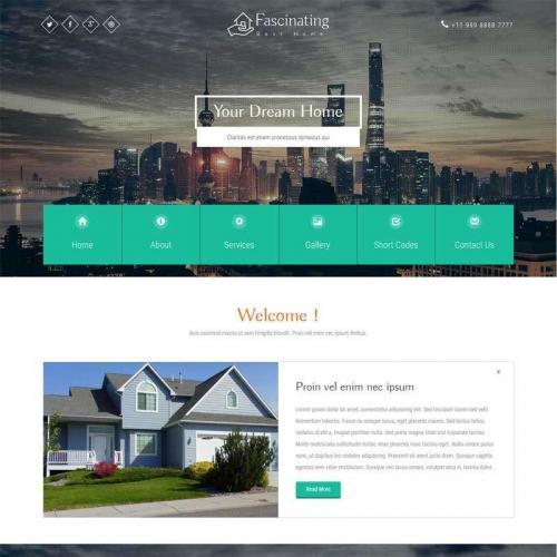 大气宽屏的城市商务办公企业网站模板html代码