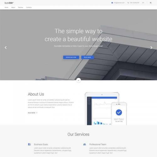 白色简洁的app软件公司网站html模板代码