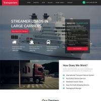 大气的货车物流运输公司网站html模板代码
