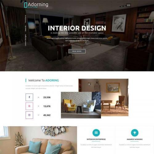 大气的室内设计公司网站静态模板HTML代码
