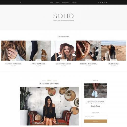 简单的bootstrap个人图片博客网站响应式模板HTML代码