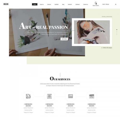 白色创意的艺术品交易电商网站模板HTML代码