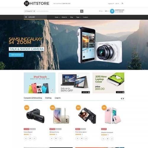 黑色的手机电脑电子商品购物商城模板HTML代码