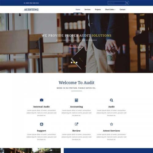 蓝色的法律咨询机构网站模板HTML代码