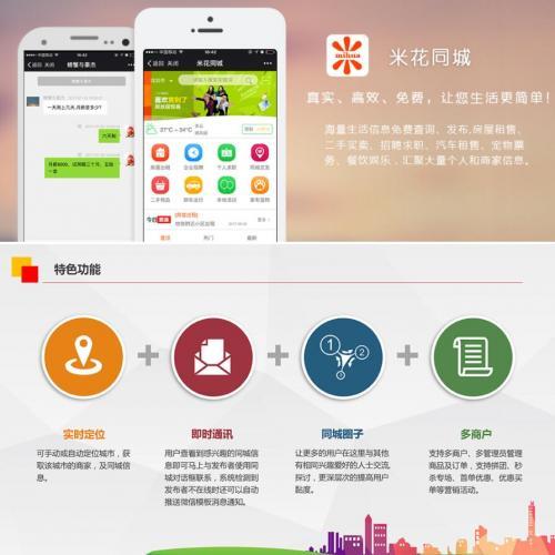 米花同城社区V7.5.2原版源码+分销+手机端