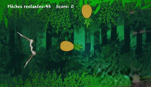 HTML5《弓箭射水果》游戏程序 在线网页小游戏源码